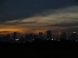 Tokyo at Dusk by yume-ryuu