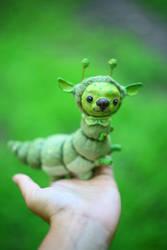 green dog-caterpillar by da-bu-di-bu-da