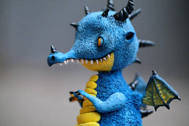 blue dragon-elf by da-bu-di-bu-da