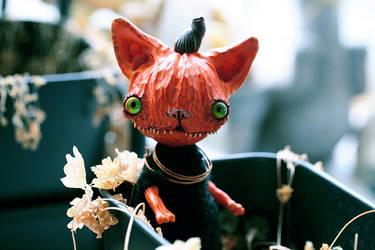 pumpkin cat monster by da-bu-di-bu-da