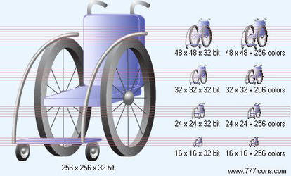 Wheelchair Icon by medical-vista-icons