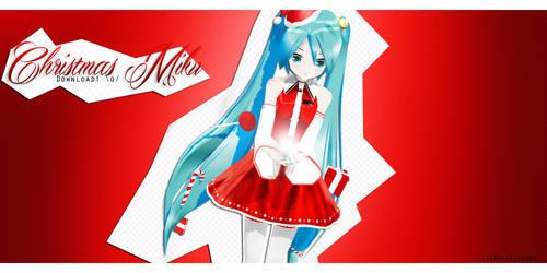 .: Chritmas Miku DL :. by Kuro-Mitsuko