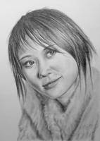 Pencil drawing of Yuja Wang, Pianist by LateStarter63