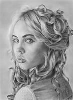 Pencil portrait of Rita by LateStarter63