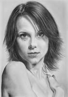 Pencil portrait of Jennifer by LateStarter63