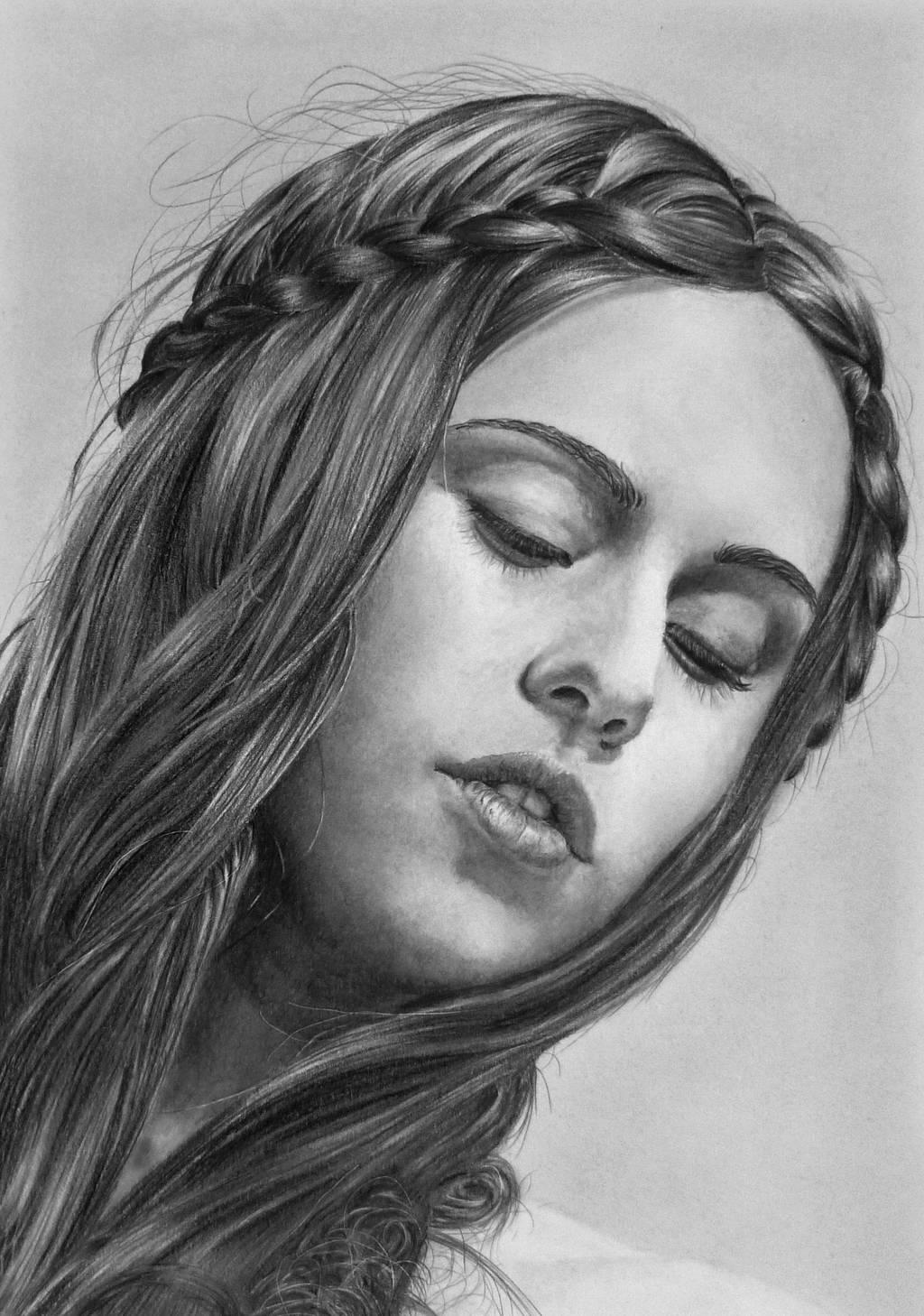Pencil portrait of Jessica by LateStarter63