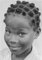 Pencil portrait of a girl from Togo by LateStarter63