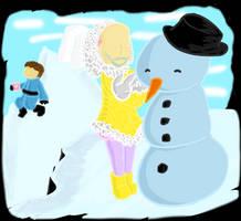 A snowman on Snowcap by KupoKK