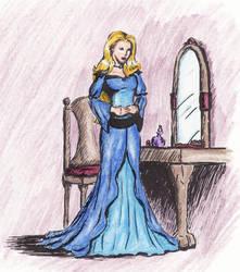 Coloring-Rosella by Morghiesart