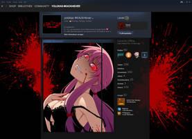 Mirai Nikki Themed Steam Profile design by yolokas