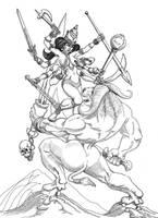 Durga vs Mahisa by martintimmins