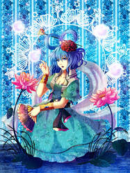 Blue Incense mixed with the fragrance of blooming  by Azumikun