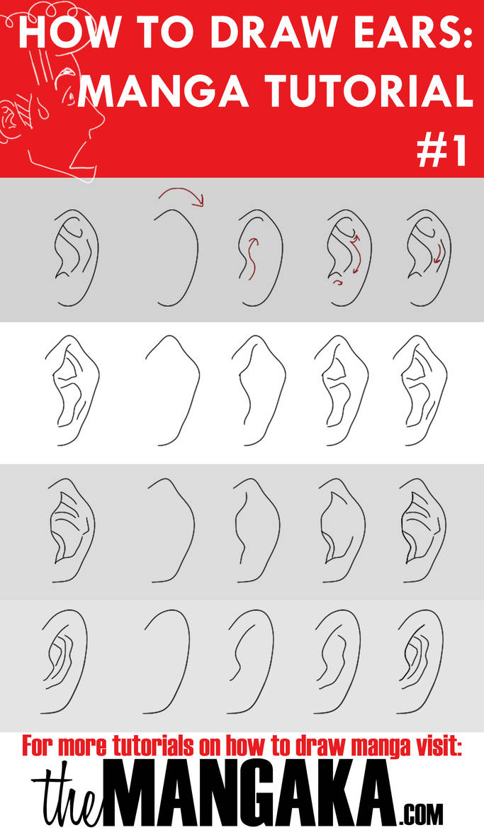 How To Draw Ears Manga Tutorial By Mangakaofficial On Deviantart