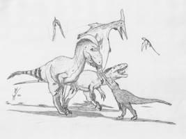My Better Fake Theropod by Midiaou