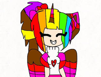 Rainbow and Funtime and me fusion  by Vabessa2006