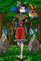 Ikrisia in the forest by kitfox-crimson