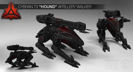 Cybran T3 'Hound' Artillery Walker by gtgv