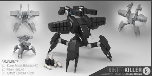 Behemoth Hunter-Killer Mech by gtgv