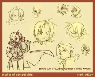 studies of Edward Elric by markcrilley