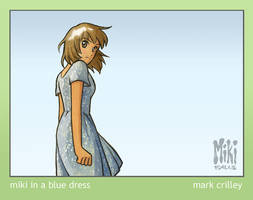 Miki in a Blue Dress by markcrilley