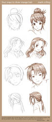 4 Ways to Draw Manga Hair by markcrilley