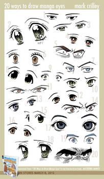 20 Ways to Draw Manga Eyes by markcrilley