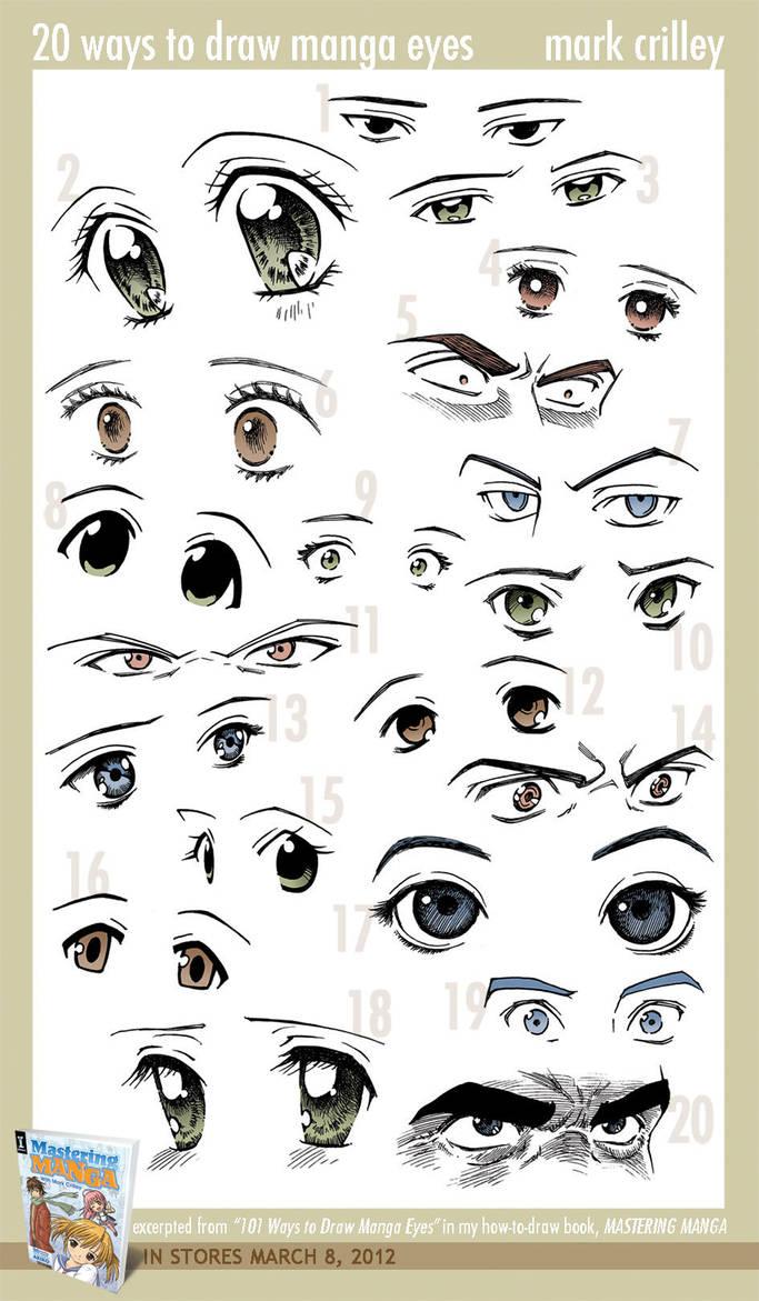 20 Ways To Draw Eyes By Markcrilley