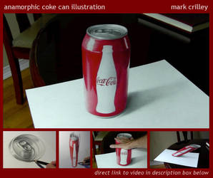 Anamorphic Coke Can Illustration by markcrilley