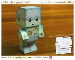 Chibi Robot Papercraft by markcrilley