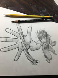 Action Pose Using Foreshortening  by markcrilley