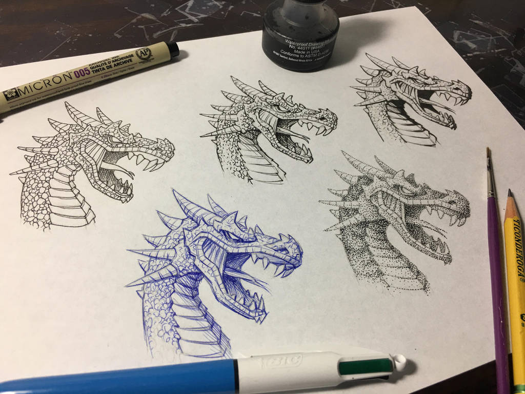 5 Ways to Ink the Same Drawing [YouTube Tutorial] by markcrilley