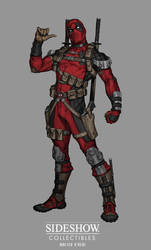 Sideshow: Sixth Scale Deadpool - Concept art by No-Sign-of-Sanity