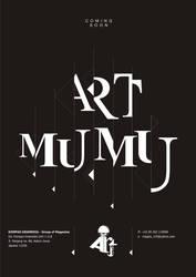 ART MUMU ' BLACK TYPOGRAPHY' by mumu145