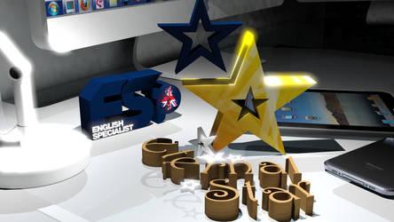 LOGO 3D ETERNAL STAR DAN ENGLISH SPECIALIST by mumu145