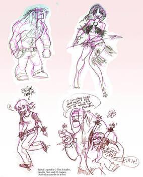 Brutal Sketches by DarthScribbles