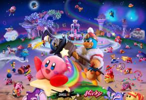 Kirby Clone Wars by Zavellart