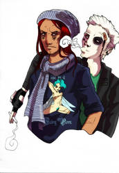 Medjai and Sibanok by Cannelle-dessins