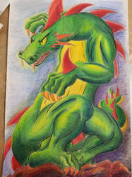 Art Class Dragon by Mysticwaffle032