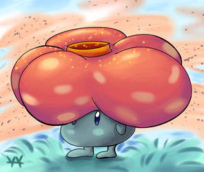 Vileplume Painting by Mysticwaffle032