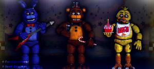 Prototype animatronics (and stage) by FreddyFredbear