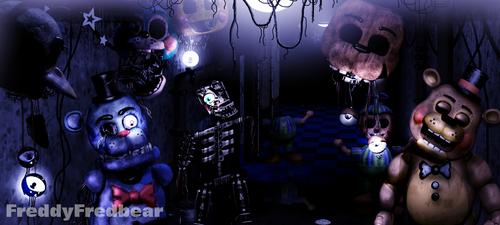 Hallway Of Failed Creations - Haunted Warehouse by FreddyFredbear