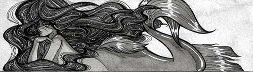 Grey Mermaid 5 by silvia911