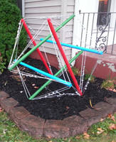 Tensegrity Sculpture First Day by SmilingY