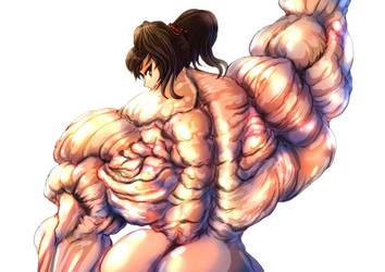 Akane Devilwing's back by S20K00Y