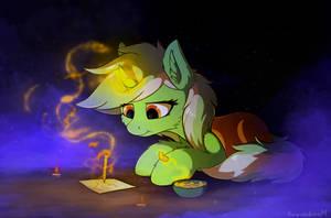 Lyra writes by Breakdream