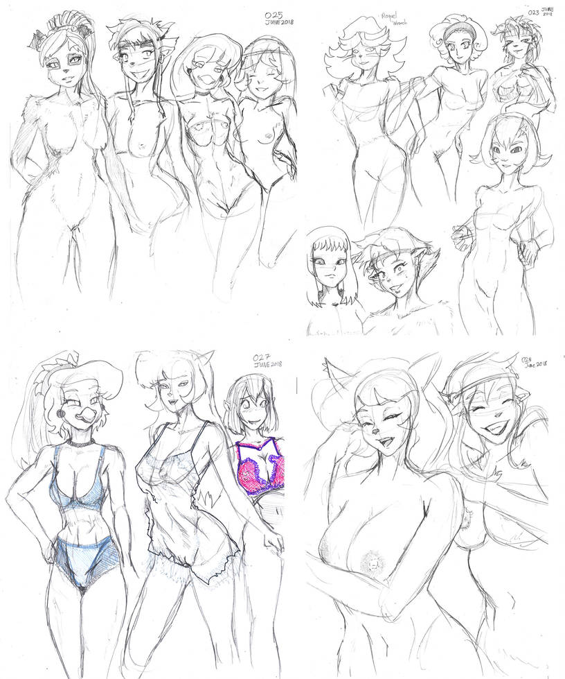 Girl Batch - Sketch Collection 02 by GroovechampDA
