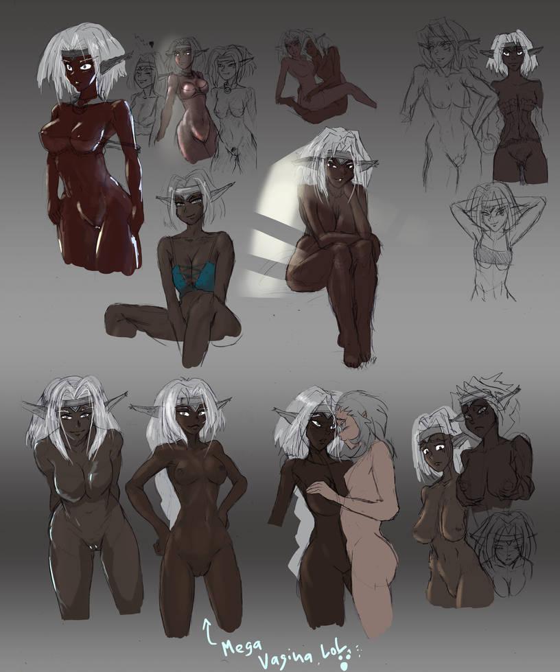 Aisha ClanClan - speed sketch batch by GroovechampDA