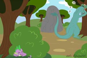 Nessi and Spike 5 Hide And Seek by caluriri