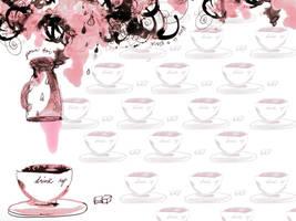 Coffee Wallpaper by OhAnneli