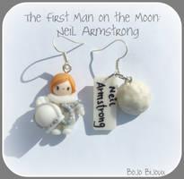 Neil Armstrong Earrings by Bojo-Bijoux